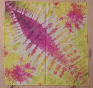 lobster tail tie dye bandana